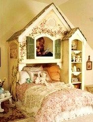Great storybook cottage bed.
