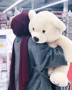 Discovered by Find images and videos about teddy bear, حجاب and hijab fashion on We Heart It - the app to get lost in what you love.