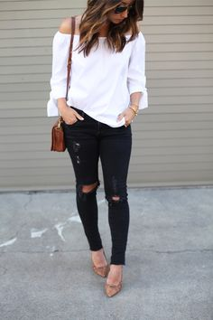 Zara top // AG jeans // DVF pumps // vintage Coach bag (similar) // Ray-Ban original aviators // Brandy Pham bracelet // Miranda Frye cuff Photos byNatalie Dressed I wasn't necessarily thinking to…