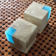 Hand-made modern concrete and translucent pigmented urethane resin bookends! One order equals a set of two. Concrete Color, Concrete Cement, Concrete Furniture, Concrete Crafts, Concrete Projects, Concrete Design, Resin Crafts, Resin Art, Diy Projects