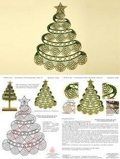 Risultati immagini per bobbin lace christmas images Crochet Snowflake Pattern, Crochet Leaves, Crochet Snowflakes, Crochet Doilies, Crochet Christmas Trees, Christmas Crochet Patterns, Christmas Crafts, Christmas Images, Bobbin Lacemaking