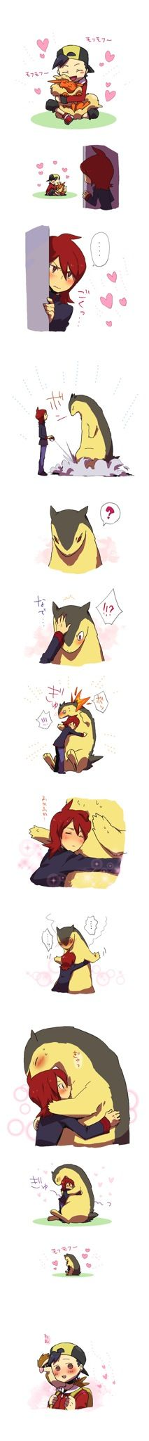 That is so cute! Everybody just wants some love from their pokemon.