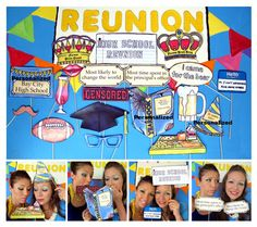 High School Reunion photo booth props perfect for by thepartyevent