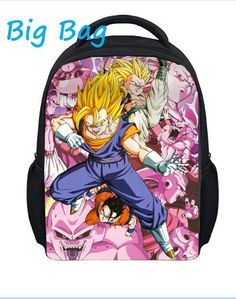 2016 new 13'' dragon ball z backpack for kids,fashion character children school bags for girls and boys,cartoon bagpack