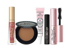 Too Faced Is My Life 5 Piece Mini Travel Makeup Set Better Than Sex Mascara Primer Lipstick Bronzer Cleansing Oil Makeup Set, Skin Makeup, Beauty Makeup, Makeup Brush, Mascara Primer, Best Mascara, Glamour Beauty, Glamour Uk, Travel Set