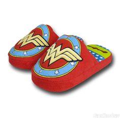 Wonder Woman Women's Plush Slippers DC Comics