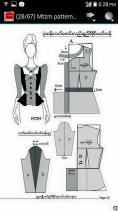 The beat dresses for your body shape, clicking the image for buying your dresses Pattern Draping, Corset Pattern, Top Pattern, Blouse Patterns, Clothing Patterns, Blouse Designs, Sewing Blouses, Modelista, Easy Sewing Patterns