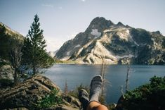 wanderlust, exploring, discover, expedition, adventure, backpacker, nature, into the wild, lake, mountains, socks