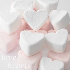 Solid-Faced Canvas Print Wall Art Print entitled Selection of pink and white heart shaped marshmallows. My Funny Valentine, Valentine Day Gifts, Heart Art, Love Heart, Howleen Wolf, Kawaii Shop, Romantic Dinners, Pretty Pastel, Recipes