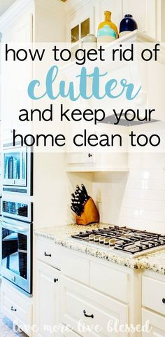 How to get rid of clutter and keep your home clean. Here's a great action plan to start getting rid of junk in your home. cleaning | de-clutter | organizing