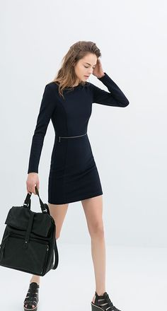 Vestido de Zara con cremallera. #moda #vestido #rebajas