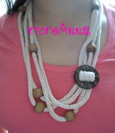 Collane tricotin con pietre di mare !!!! | ricreAnna - Creazioni all'uncinetto  <3