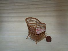 Wicker Chair In Scale 1:12