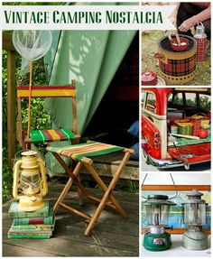 "10 great vintage style camping ideas to ""fire"" up your inspiration. Great for rustic decorating ideas. Let's go camping!"