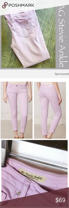 """AG Stevie Ankle Jeans AG the Stevie Ankle Jean in Lilac. Size 32. Inseam 27"""". Preowned. Bundle in my closet and save. I ship same day or next day almost always! No trades. Suggested user and top-rated seller AG Adriano Goldschmied Jeans Skinny"""
