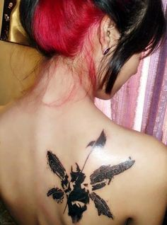 Linkin Park tattoo . Hybrid Theory Soldier with wings. I would love to get this tattoo, in same spot too.