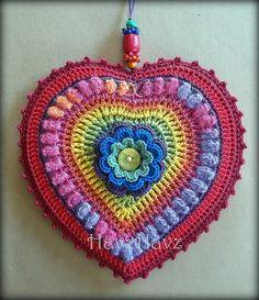 Coração crochê