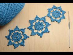 Круглый мотив ЦВЕТОК крючком - урок по вязанию - Crochet motifs for beginners - YouTube Crochet Motifs, Home Crafts, Lana, Knitting Patterns, Irish, Crochet Earrings, Tube, Christmas Ornaments, Videos