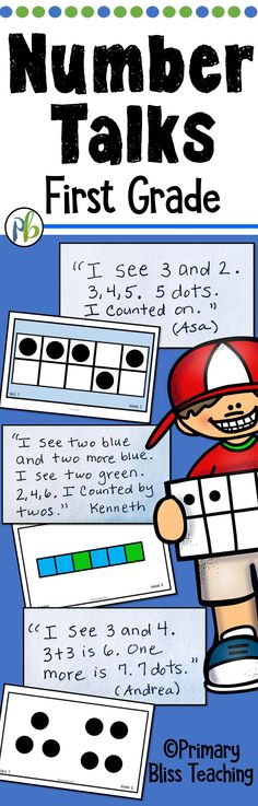 Number Talks for your first grade / year one classroom. #numbertalks, #firstgradenumbertalks, #yearonenumbertalks #primaryblissteaching
