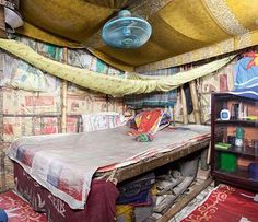 interior of urban hut, Bangladesh _ photo by Sebastian Keitel