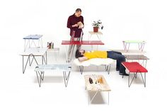 make a table out of any flat surface.  oh the possibilities!  must own this.