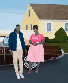 Amy Sherald (American, b. 1973), As American as apple pie, 2020. Oil on canvas, 123 x 101 in. Amy Sherald, Perez Art Museum, Group Of Five, New West, Colossal Art, The Orator, Art Object, New Shows, Artists Like