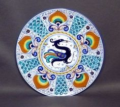 Plate with griffon, Pavona Style