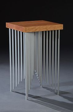 Pyramid Side Table by Carol Jackson: Wood & Metal Side Table available at www.artfulhome.com