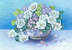 Buy White Camellias, Painting by Zoe Elizabeth Norman on Artfinder. Discover thousands of other original paintings, prints, sculptures and photography from independent artists. White Camellia, Original Art, Original Paintings, Blue Painting, Buy Art Online, Pastel Drawing, Blue Hydrangea, Flowers Nature, Art Auction