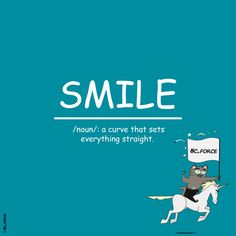 SMILE /noun/: a curve that sets everything straight. Everything, Success, Inspirational Quotes, Wisdom, Positivity, Smile, Motivation, Movies, Movie Posters