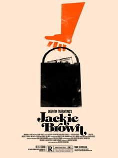 """MP353. """"Jackie Brown"""" Alternate Movie Poster by Olly Moss (Quentin Tarantino 1997) / #Movieposter"""