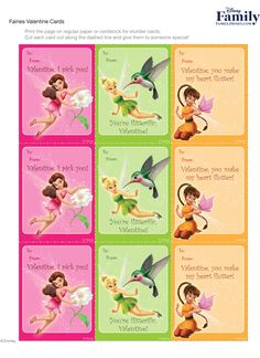 Ensure that your friends and family have a pixie-perfect day by delivering these Fairy Valentine cards!