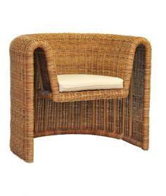 Woven Arurog Lounge Chair for Tropi-Cal, 1960s.