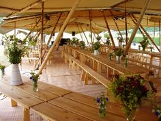 Tipi Style- We love the pared back elegance of this rustic theme. Let the natural wood and the pretty tipi do the work. Tipi Wedding, Marquee Wedding, Wedding Reception, Wedding Venues, Woodland Wedding, Dream Wedding, Summer Wedding, Wedding Decor, Bush Wedding