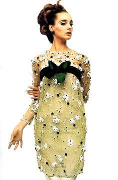 1960's fashion - antonia wearing YSL photo william klein 1964