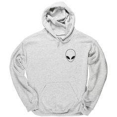 HippoWarehouse ALIEN POCKET unisex Hoodie hooded top ($23) ❤ liked on Polyvore