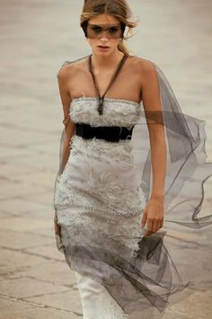 I love this silk lace eye mask wrap tie- Chic & Fierce- Chanel Haute Couture Runway Fashion Show --