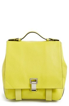 Designer Clothes, Shoes & Bags for Women Yellow Backpack, Tote Backpack, Leather Backpack, Yellow Leather, Tote Handbags, Tote Bags, Proenza Schouler, Purses And Bags, Satchel