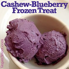 Our latest recipe, just in time for the first summer weekend: Cashew-Blueberry Frozen Treat. http://veganstreet.com/cashewblueberryfrozentreat.html