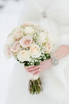 There's no bride without a bouquet! Every wedding theme and style usually supposes that a bride would carry a bouquet, so it's high time to. Our Wedding, Dream Wedding, Ivory Wedding, Destination Wedding, Bride Bouquets, Bridesmaid Bouquets, Bouquet Wedding, Wedding Dresses, Bridal Flowers