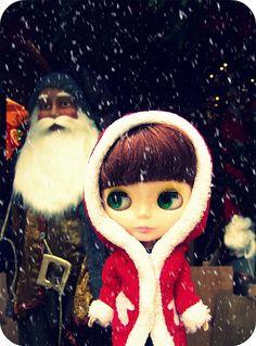 Miranda with Santa
