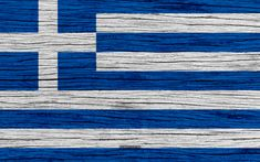 Herunterladen hintergrundbild flagge von griechenland, 4k, europa, holz-textur, griechische flagge, nationale symbole, griechenland flagge, kunst, griechenland Computer Presentation, Greece Flag, National Symbols, Wooden Textures, Wallpaper, Painting, Greek Flag, Wood Texture, Greek