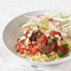 Greek Pasta with Meatballs | CookingLight.com (Bake Meatballs Pasta)