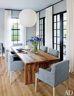 A modern and minimalistic dining room | archdigest.com