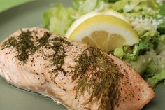EASY BAKED SALMON WITH DILL