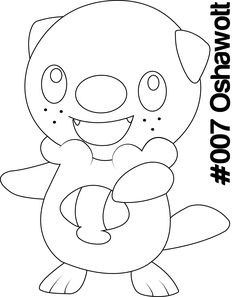 Coloring Pages Pokemon Tepig