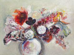 Margareta Sterian Jewish-Romanian) - Flowers - oil on plywood Flower Vases, Flower Art, Jewish Festivals, Jewish Art, Art Database, True Art, Art History, Plywood, Paintings