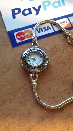 Silver Charm Watch Bracelet by JewelryPassport on Etsy