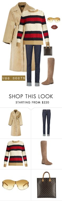 """""""Ugg boots for fall"""" by kotnourka ❤ liked on Polyvore featuring Isabel Marant, Acne Studios, Gucci, UGG, Louis Vuitton and Lime Crime"""