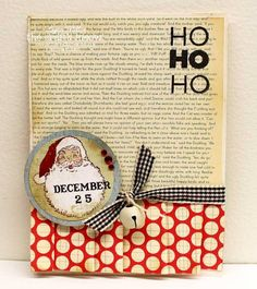 Vintage inspired holiday card fun. #Christmas #cards #paper_crafting